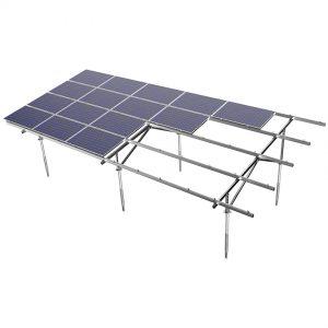 aluminum ground solar mounting system