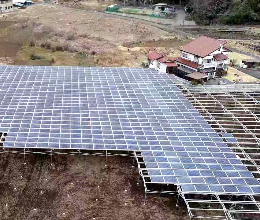 solar ground housse