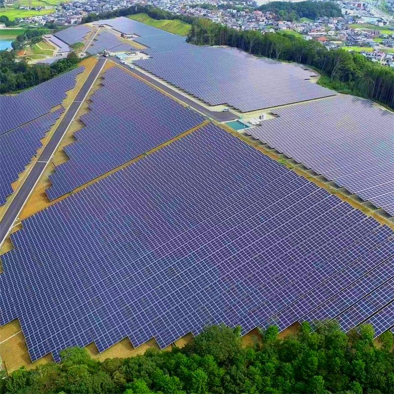 Rnsolar  15MW  Aluminum Ground Mounting System in Japan-Xiamen RiNeng Solar Energy Technology Co.LTD